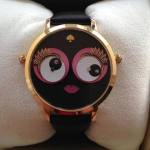 Kate Spade Monster Imagination Leather Metro Watch